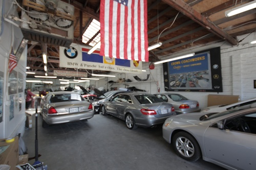 Inside Crown Coachworks Auto Body and Paint